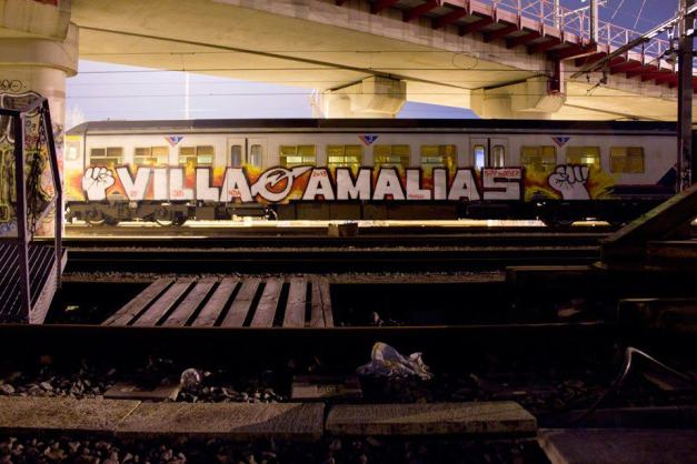 Γραφιτι σε τρένο στο Βέλγιο