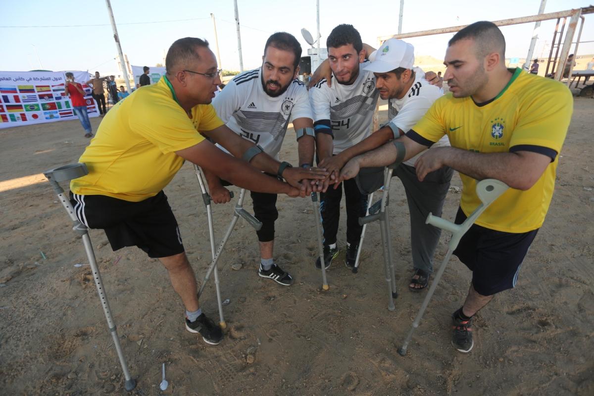 Το Παγκόσμιο Κύπελλο με ένα πόδι στα σύνορα της Γάζας